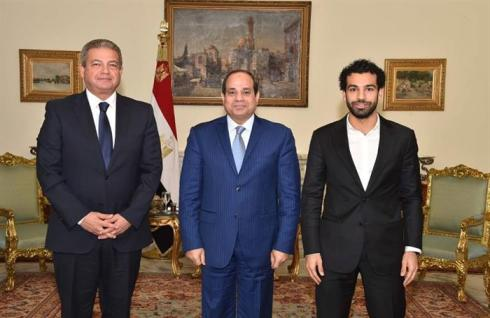 2018-03-18 Mo Salah received by Egyptian president after his support to Egypt in 2017