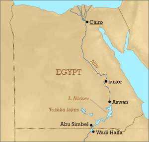 2018-04-06 Luxor location map in Egypt