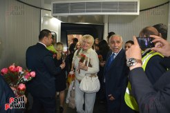 2018-04-14 Egypt Cairo Airport authorities welcome Aeroflot Russian visitors with flowers 2018 03 - Youm7