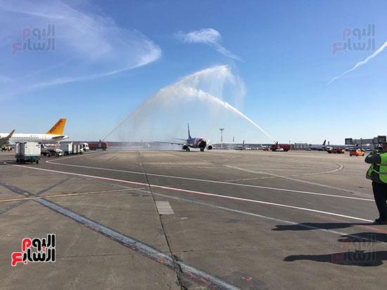 2018-04-14 EgyptAir National Football Team Plane arrive Moscow on first flight 2018 02 - Youm7