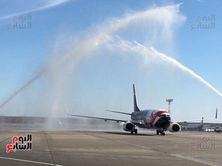 2018-04-14 EgyptAir National Football Team Plane arrive Moscow on first flight 2018 - Youm7