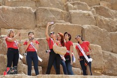 2018-05-04 World Ambassadors for Tourism and Environment at Giza Pyramids Egypt 03 - Youm7