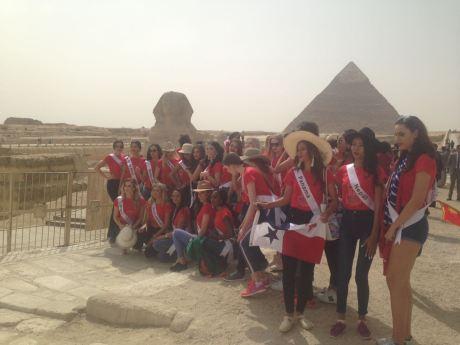 2018-05-04 World Ambassadors for Tourism and Environment at Giza Pyramids Egypt - Al-Ahram