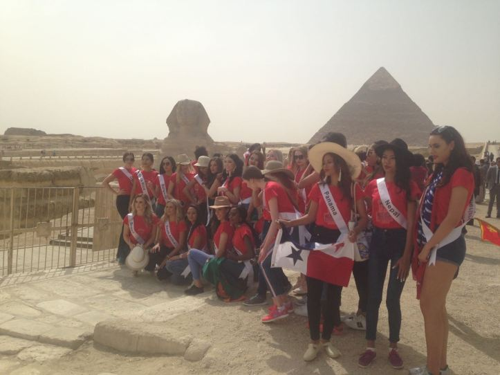2018-05-04 World Ambassadors for Tourism and Environment at Giza Pyramids Egypt - Al-Ahram