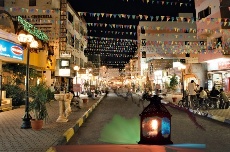 2018-05-22 Ramadan in Egypt - Hurghada - Street decorations Wikicommons