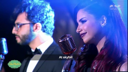2018-06-10 Egyptian musical medley of James Bond singles by Nesma Mahgoub and the group