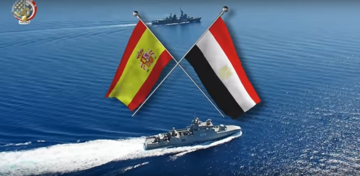 2018-06-22 Spain and Egypt navy and air force complete Mediterranean training in Alexandria