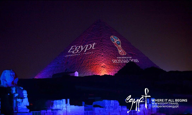 2018-06-29 Egypt World Cup 2018 Marketing Campaign at the Giza Pyramids