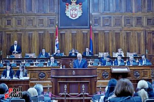 2018-07-20 Egypt Parliament President Speech in Serbian Parliament 01 Youm7