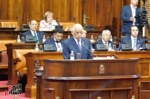 2018-07-20 Egypt Parliament President Speech in Serbian Parliament 02 Youm7