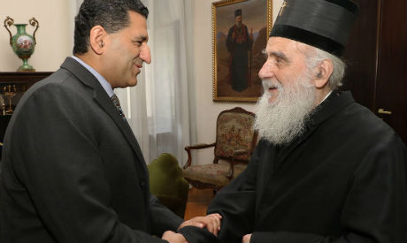 2018-07-20 Egyptian Ambassadro to Serbia with Serbian Church Partriarch