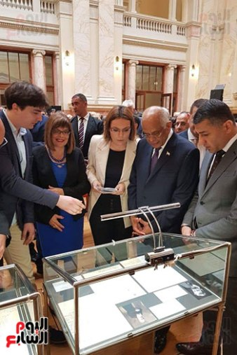 2018-07-20 Egyptian Artifacts Exhibition in Serbian Parliament 01 Youm7
