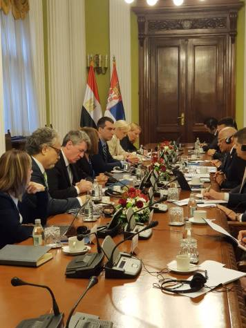2018-07-20 Egyptian Parliamentary visit to Serbian Parliamenr 01 Youm7