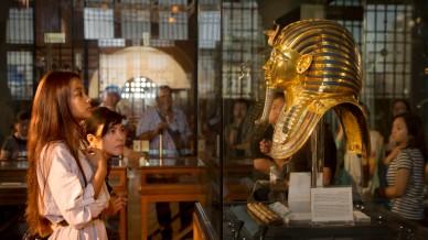 Egyptian Museum in Cairo - King Tut's golden mask