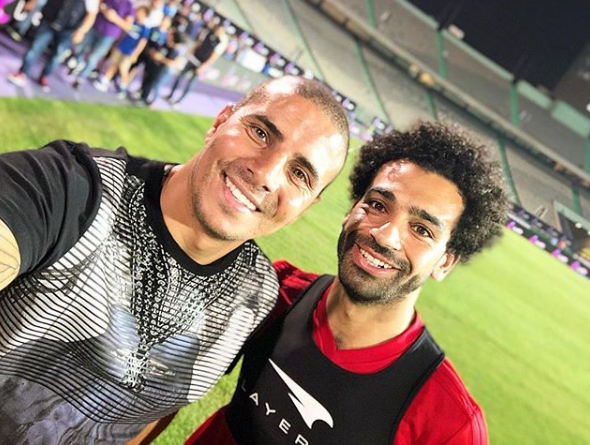 2018-08-06 Fans in Egypt - Mo Zidan with Mo Salah in Cairo Stadium