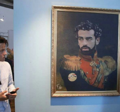 2018-08-06 Salah Army Commander Painting in Russian World Cup Museum