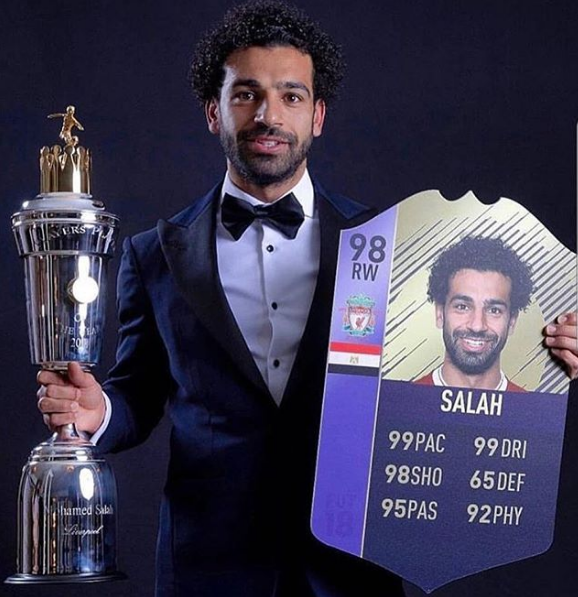 2018-08-06 Salah Player of the Year in England 2017-2018 02