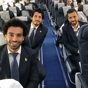 2018-08-06 Team on EgyptAir to Russia
