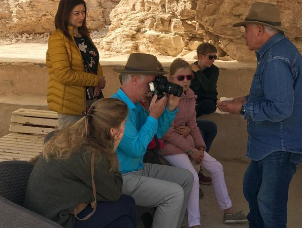 2019-01-14 belgium royal family during luxor visit with dr zahi hawass 2019 02