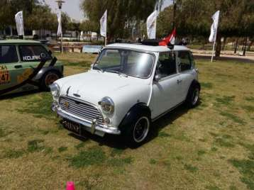 2019-04-03 Egypt Cairo Classic Cars and Vehicles Meetup - Mini with flag MSN