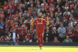 2019-04-08 Egypt Salah celebrates 32 goal in English Premier League 2017-2018 01 Youm7