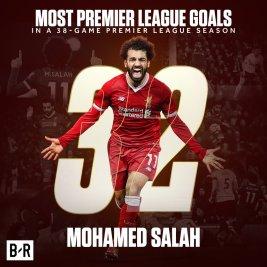 2019-04-08 Egypt Salah celebrates 32 goal in English Premier League 2017-2018 02 Youm7