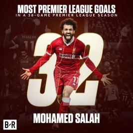 2019-04-08 Egypt Salah celebrates 32 goal in English Premier League 2017-2018 02 Youm7