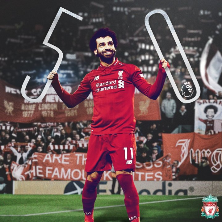 2019-04-08 Egypt Salah scores 50th goal in English premier league 01