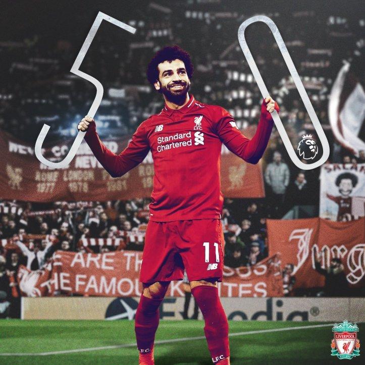 2019-04-08 Egypt Salah scores 50th goal in English premier league 01