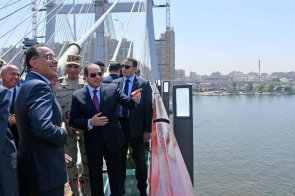 2019-05-17 President ElSisi - Prime Minister Madbouly - Minsiter ElWazeer open Rod El Farag axis bridge Cairo