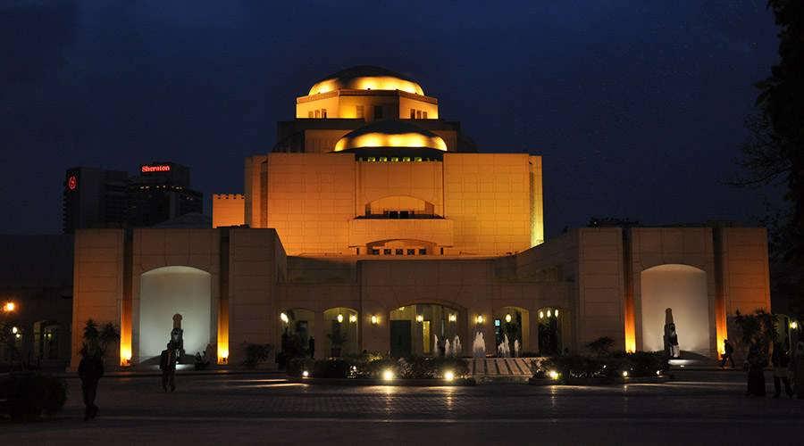 2019-06-18 Cairo Opera house at night