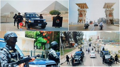 2019-06-19 Egypt Police special forces officer for AFCON 2019 at Tourist Sites Pyramids of Giza