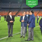 2019-06-19 Egypt President El-Sisi and government check Cairo Stadium AFCON 2019
