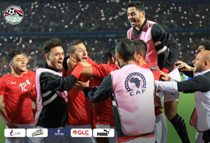 2019-11-26 Egypt AFCON U23 African Football Cup - Egypt celebrate final win 2-1 Cote divoire 02