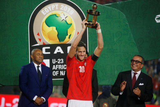 2019-11-26 Egypt AFCON U23 African Football Cup - Egyptian best player Ramadan Sobhy