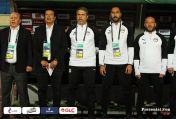 2019-11-26 Egypt AFCON U23 African Football Cup - Egyptian Team Coaches sing anthem