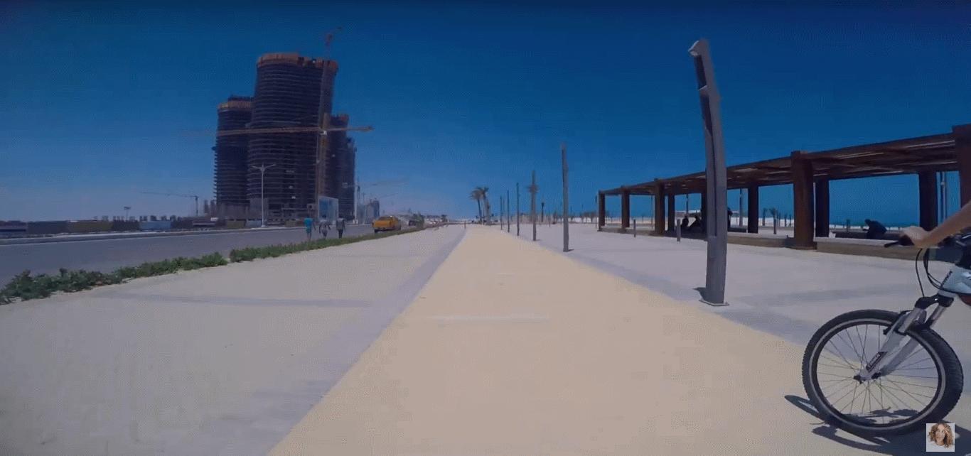 2020-09-13 New Alamein City Mediterranean Promenade bike trip by Nadia Abu El Dahab 2020