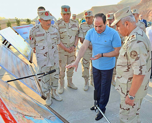 2020-10-27 Egyptian President ElSisi and General ElWazeer oversee construction of Al Galala city