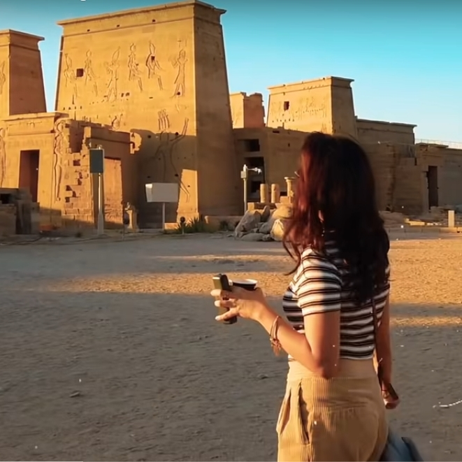 2021-03-02 Egypt 10 days Vlog tour with Indian YouTuber Barkha Singh - Ancient Egyptian Temple