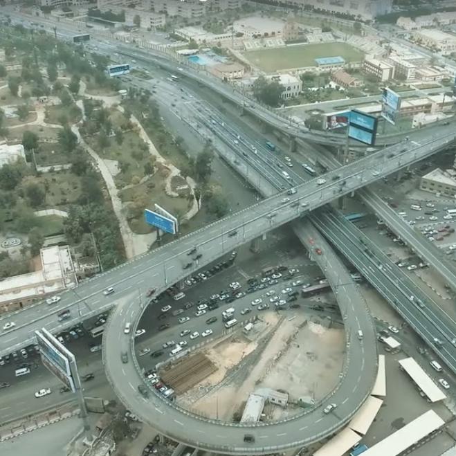 2021-03-08 Egypt Traffic in City Roads and Bridges 01