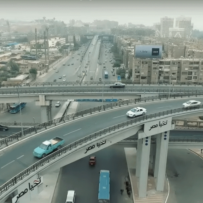 2021-03-08 Egypt Traffic in City Roads and Bridges 02
