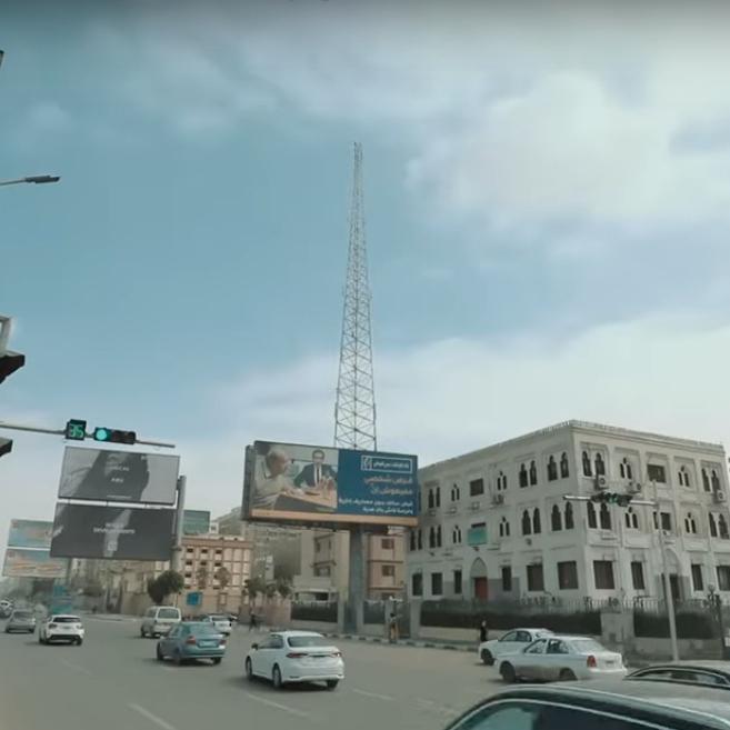 2021-03-08 Egypt Traffic Light in City - Al-Shaheed Hisham Barakat Square Nasr City 02