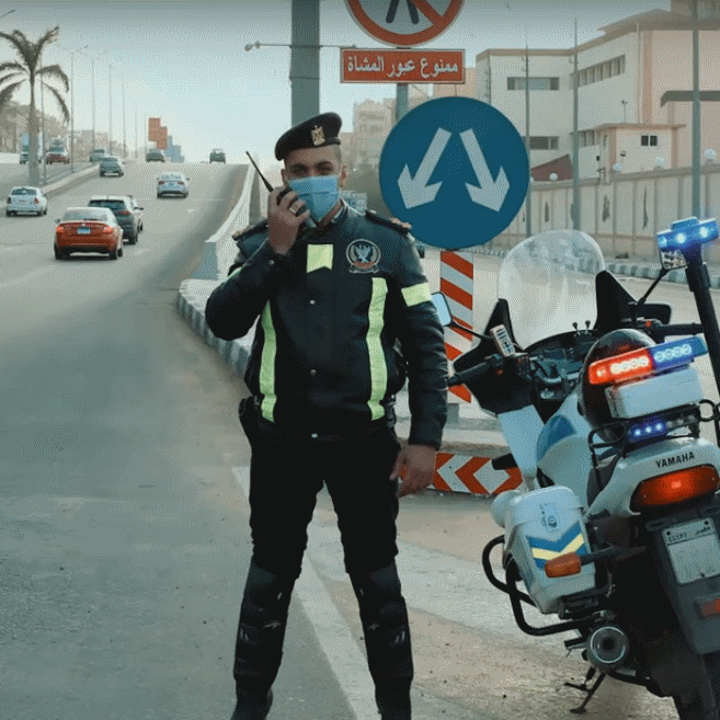 2021-03-08 Egypt Traffic Police Officers 02