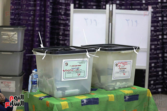 2021-08-29 Ballot Boxes at polling stations Egypt Parliament elections 2020 01