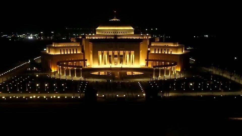 2021-08-29 Egypt Parliament New Administrative Capital 2021 by Night 05