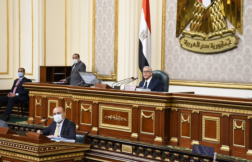 2021-08-29 Egyptian Parliament 2021 with President and Government Speaker
