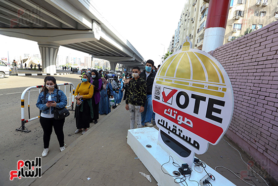 2021-08-29 Egyptian Youth at the polling stations Parliament Elections 2020 Youm7 03